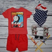 12 - 18 месяцев 86 см Обалденная фирменная яркая футболка паровоз паровозик Томас Thomas & Friends