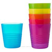 Набор детских стаканов 6штук, разные цвета 101.929.56 Калас Kalas Ikea Икеа В наличии!