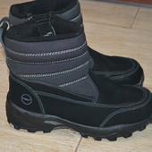 Khombu 43р сапоги зимние ботинки полусапоги кожаные