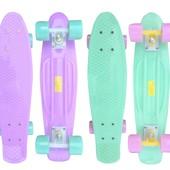 Пенни борд пастельная коллекция (Penny Board Pastel), 2 цвета: мятный/лиловый