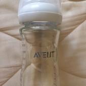 Бутылочка Avent Natural стекло 1+