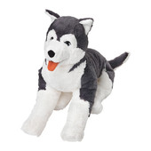 Мягкая игрушка, собака хаски, сибирский хаски,  402.979.90 Ливлиг Livlig Ikea Икеа В наличии!