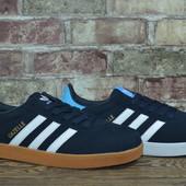 Мужские кроссовки Adidas Gazelle два цвета