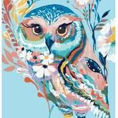 Картина по номерам Роспись на холсте Очаровательная Сова 2471 40*50см