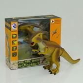 Динозавр 9987 А (12) подсветка, звук, ходит, двигает головой, на батарейке
