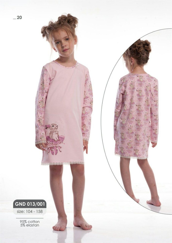 Оригинальные, стильные детские пижамы и ночные рубашки для девочки. фото №1
