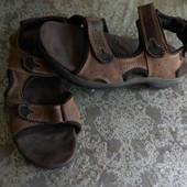 мужские кожаные босоножки, стелька 27 см, 42 размер