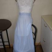 Макси платье  шифон+ кружево-M-L размер