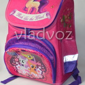 Школьный каркасный рюкзак для девочек Pony малиновый 3424