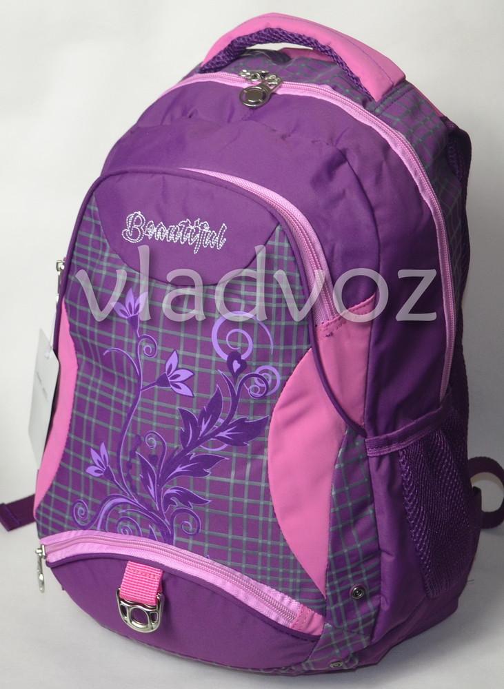 Рюкзак для девочки подростка dfw фиолетовый 3389 фото №4