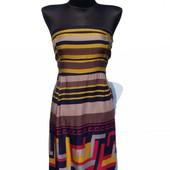 Суперцена. Красивое летнее платье бюстье. Яркий принт. Новое, размер 44