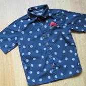 Стильная рубашка Next ( 3-4 года),нюанс