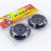 Колеса для роликов Kepai 0702 (роликовых коньков) 70мм: 2 штуки в комплекте, светящиеся