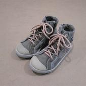 Ботиночки Bobby Shoes хлопок на змейке бежевые для мальчика