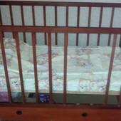 Детская кроватка Наталка+матрас+постельный комплект