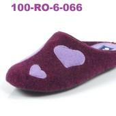 100-RO-6-066 Новинка! Тапочки женские домашние Inblu.Инблу, фетр, сердце, р-ры 35-41