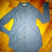 Рубашка-туника-платье H&M 9-12 лет отл сост