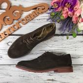 Комфортные мужские ботинки Baze из натуральной замши с перфорацией  SH3132
