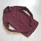 Рубашка бордовая