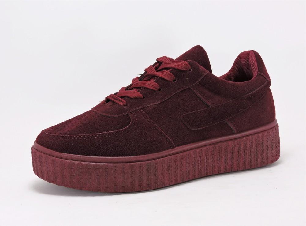 1f33659e7dac 13-sk1802-9, женская обувь, криперы, кроссовки , цвет-марсала ...