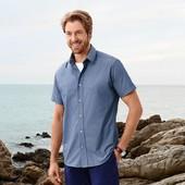 Рубашка с коротким рукавом от Тсм Tchibo Германия