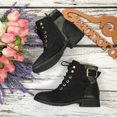 Трендовые ботинки Aldo на шнуровке из комбинированных фактур  SH3257
