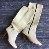 Новые винтажные кожаные сапоги Бразилия р-р 39-40