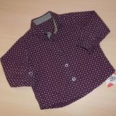 Стильная рубашка Mothercare для мальчика, 6-9 мес, 68-74 см Оригинал