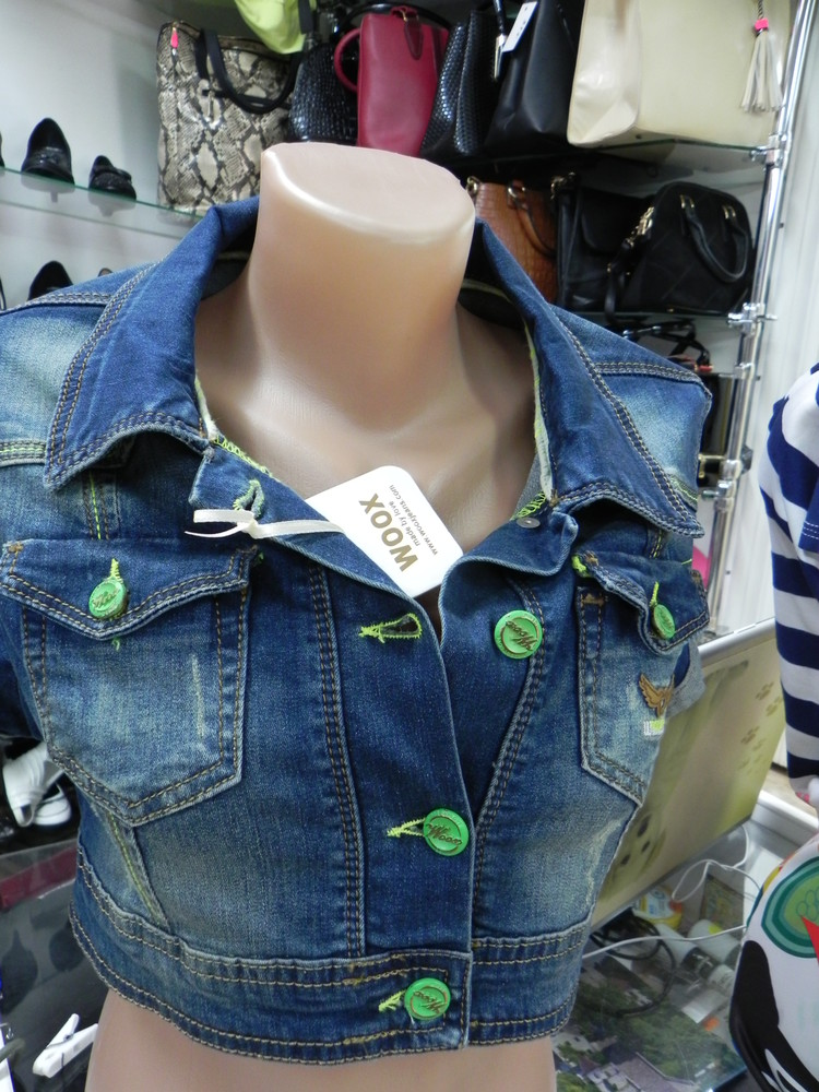 Укороченная жилетка курточка xs m на девочек фото №1