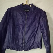 Красивый пиджак (курточка) с экокожи