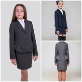 Виола пиджак, жакет 128-158р. черный,серый,синий