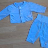 """Теплый фирменный костюм для новорожденного """"Marks&Spencer"""". Кофта+штаны на возраст: 0-3-6 месяцев"""