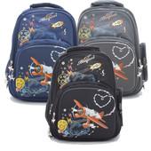 Детский рюкзак для повседневного использования 9971 синий, серый, черный