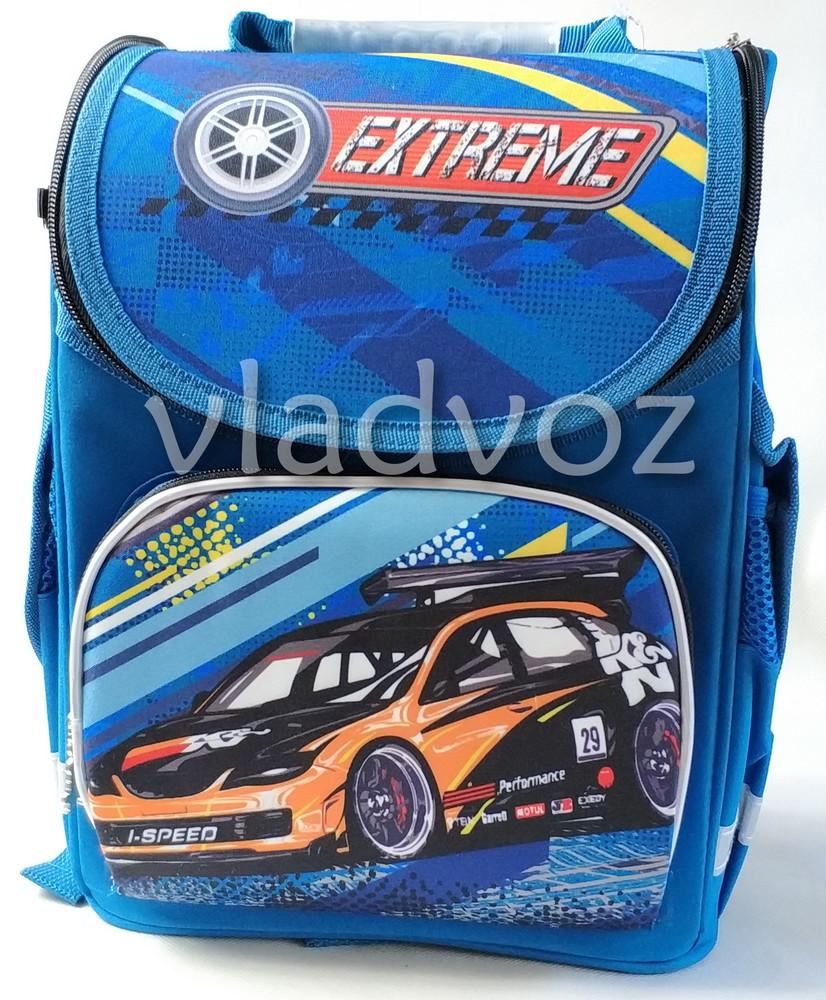 Школьный каркасный рюкзак для мальчиков cars extreme синий 3441-5 фото №1