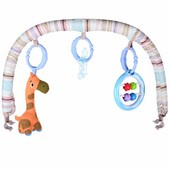 Детский шезлонг Bambi Бежевый (30608) с подвесками