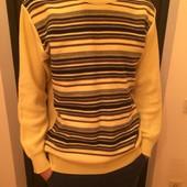 Мужской теплый пуловер  джемпер 80 % шерсти в отличном состоянии