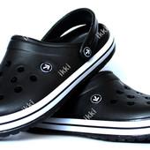 Мужские кроксы шлепанцы черного цвета (918ч)