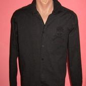 рубашка мужская р-р М-Л сост новой,стрейч Plein