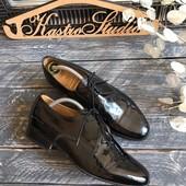 Лаковые кожаные туфли-дерби Sanders  England р-р 42