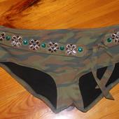 Трусики плавки шортиками от купальника камуфляжная разцветка хаки victoria's secret