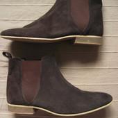 Topman Chelsea (41,5, 26,5 см) замшевые ботинки челси мужские