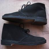 Clarks Navy Suede (40, 25,5 см) ботинки дезерты мужские