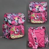 Рюкзак школьный Бабочка на Эйфелевой башне, 3 отделения, 2 кармана, 2 отделения внутри, ортопедическ