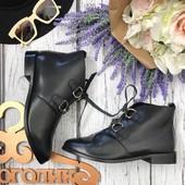Комфортные полуботинки со шнуровкой на каблуке-кирпичике SH3426