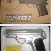 Пистолет Cyma Утяжеленный металл пластик ZM01 пульки в коробке