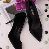Классические замшевые женские туфли-лодочки