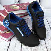 Кроссовки Джордан чёрно-синие на рефлёной подошве зубчиками