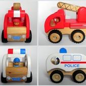 Mothercare деревянные машинки полицейская пожарная деревянная машинка