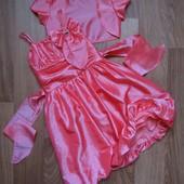 Нарядное платье+болерошка  на 7-9 лет