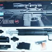 Автомат винтовка Cyma P. 137 Карабин лазер,фонарь стреляет пульками 6 мм